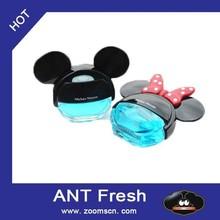 Vent clip peach / cream double pedestal liquid air freshener for cars, trucks