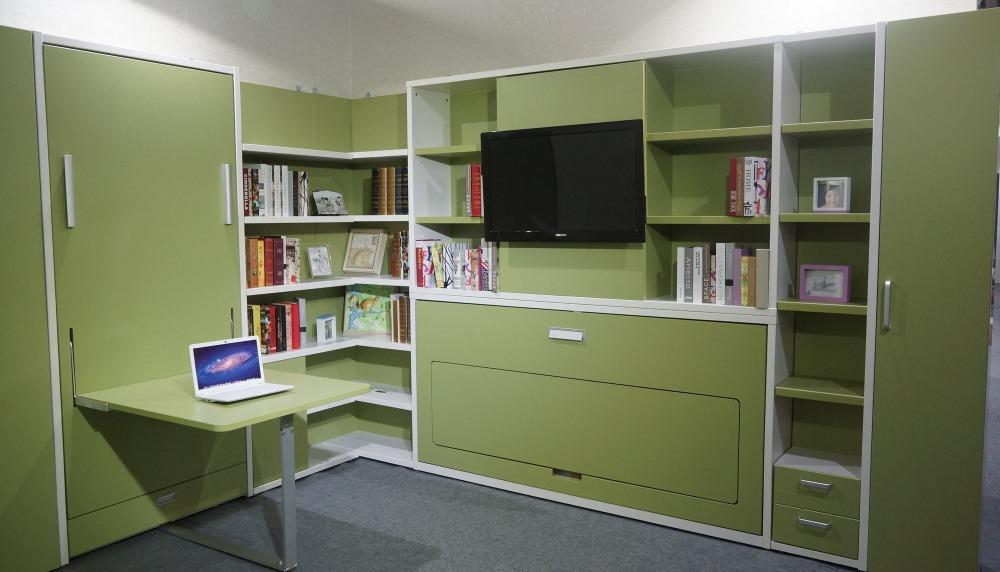 paroi de pliage de lit invisible mur de lit murphy lit avec table literie id de produit. Black Bedroom Furniture Sets. Home Design Ideas