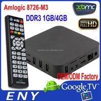 EM3 XBMC Google Smart TV Box amlogic 8726-m3 smart tv box amlogic 8726-m3 cortex a9 cpu