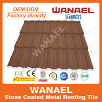 Traditional Wanael stone coated steel roof sheet/color roof philippines/Korea technology, high quality