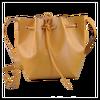 light brown buckle design handbag pu drawstring bag