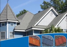 Long service life asphalt shingle roof tile stone coated steel roof tile