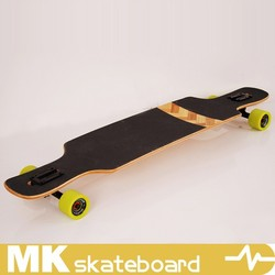 Carbonized bamboo drop through longboard,MK longboard skateboard complete