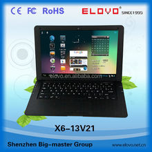 ultra slim sliver laptop computer 13.3inch 1g ram 8g rom Android4.2 VIA WM8880 factory price