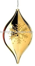 Glass Flat Snowflake Onion Gold