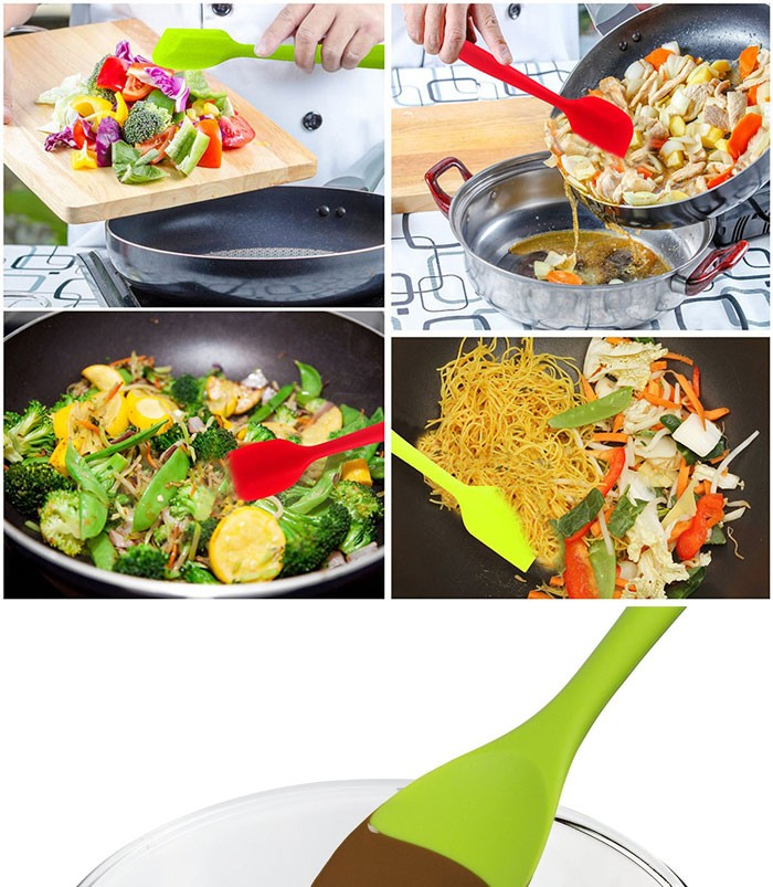 Fda утвержденных силиконовые приготовления инструменты силиконовая посуда набор с гигиенической твердого покрытия