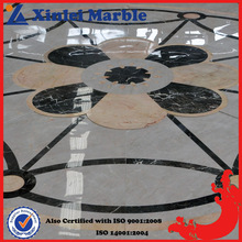 Dedicated Water Jet Marble Pattern Flooring Tile in Pure White Marble
