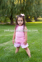 2015 china cheap summer children clothing set, bibs top and shorts set