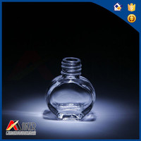 star shape High Quality Clear Empty Nail Polish Glass Bottle
