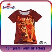 Hot Sale Newest Design 3D T-Shirt Wholesale Manufacturer Bangladesh Men's Printing 3D T Shirt