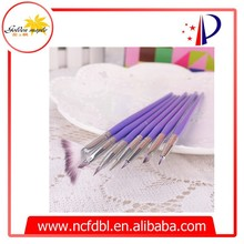 7 pcs Nail Art Brush Set Brush Painting Dot Acrylic UV Gel Nail Paint Designs