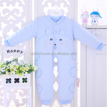 100% cotton football rompers for infants & toddlers