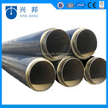 hot water pipe insulated polyurethane foamed HDPE covered preinsulated pipes
