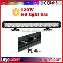 Wholesale led light bar cover single row 120w 20inch ATV led lights for utv atv with CE ROHS