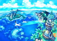 Wholesale 3D Paint Wall Canvas Fantasy Island watercolor painting Home decorative picture for Kids room Living room HH1059