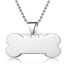 High Quality Silver Dog Tag Pendant For Pet Collar And Leash