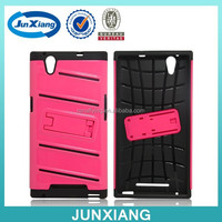 2 in 1 tpu pc combo kickstand case for zte zmax z970
