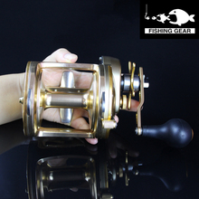 Top Quality Sea Fishing Reel 3+1BB Full Metal Trolling Reel 4:1:1 Gear Ratio Saltwater Fishing Reel Sea