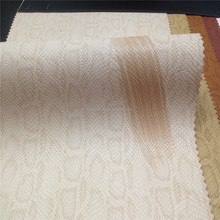 2016 pu rexine embossed snake skin synthetic leather for bags and others