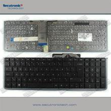 Hot selling Lighted keyboard laptop for HP Envy 17 Envy 17-1000 UK Black silver frame backlit long cable