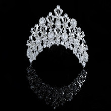 In Bulk Bling Bling Crystal Rhinestone Hair Accessories Pageant Crowns Cheap