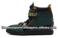 latest sneaker flat design suede leather high ankle hip-hop shoes 2013