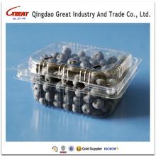 Rectangle PET Blister Fruit Plastic Container for Blueberry Raspberry Blackberry