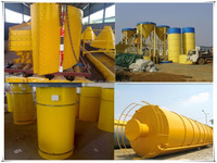 Low cost steel storage silo for cement used