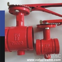 LEVER EDPM SEALING DUCTILE IRON/DI/D.I GGG50 FLANGED/GROOVED BUTTERFLY VALVE