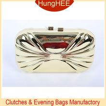 Custom Made Ladies' Mini Metal Evening Purse clutch bags hard metal cases HH-M1596