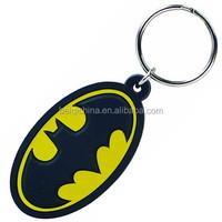 Batman customized 3D pvc keychain for promotional
