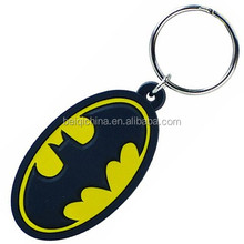 Batman customized 3D pvc keychain for promotional