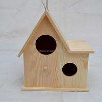 2015 new unfinished wooden decorated bird house wholesale