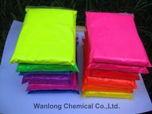Fluorescent pigment powder for textiles plastics papers paints inks