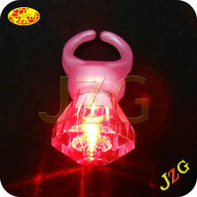 China wholesale plastic diamond ring party decorations finger ring flashing led light led flashing novelty ring