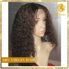 2015 New Style Virgin Remy Hair Brazilian Kinky Curly Full Lace Wigs