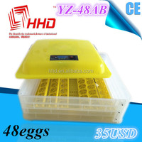 New model just 35usd !! automatic CE certificate 48 eggs incubator/egg hatching machine finch birds for sale