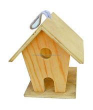 ISO9001 and SA8000 small wood crafts bird house,diy bird cage