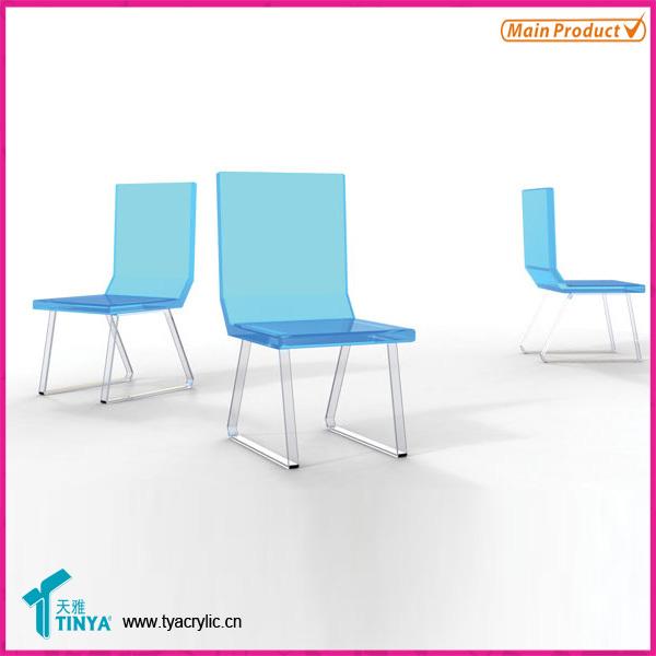 usine directe deluxe mobilier moderne acrylique transparent chaise bleu acrylique chaise. Black Bedroom Furniture Sets. Home Design Ideas