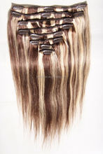 human hair colored ombre clip in hair extensions for african american, brazilian clip in hair extensions