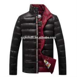 Chinese clothing manufacturers customized winter new style shinny shell men cansual jacket