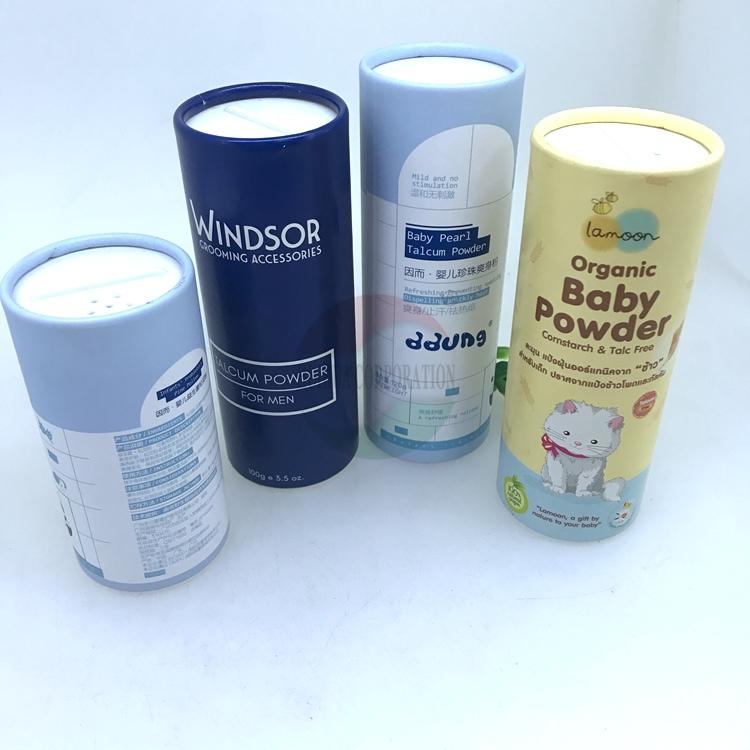 Carton Recyclé personnalisé Shaker Bouteille Poudre Lâche De Tube De Papier