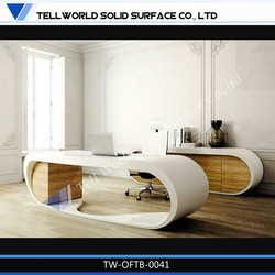 TW acrylic solid surface office furniture desk legs