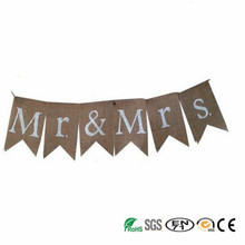 romantic family burlap banner for wedding party