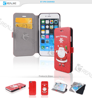 Slim flip pu leather phone cover for iphone 6