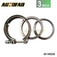 AUTOFAB - Universal Upgraded 3 inch Auto Parts V-band clamp kit for Turbo, Exhaust pipes AF-VKG30