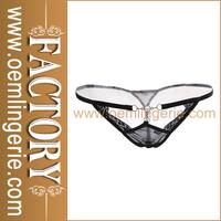 2015 New girls sexy black Micro Mini Thong