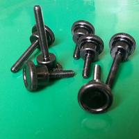 customize black zinc 303 stainless steel round head knurled machine bolt