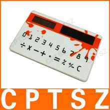Pocket card solar energy calculator