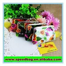 Souvenir retro bag metal frame and clutch bag PVC coin purse